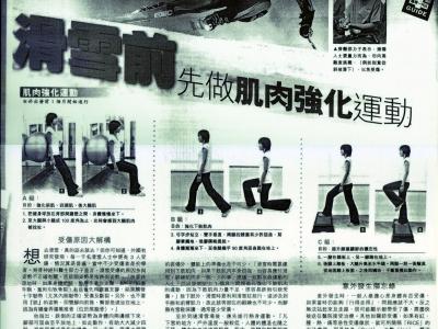 經濟日報 - 滑雪前先做肌肉強化運動